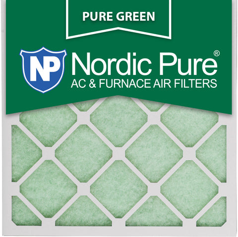 10x10x1 Pure Green AC Furnace Air Filters Qty 12 - Nordic Pure