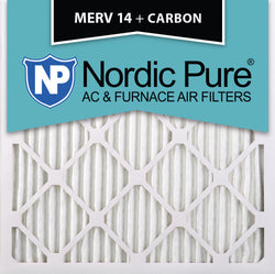 12x12x1 MERV 14 Plus Carbon AC Furnace Filters Qty 6 - Nordic Pure