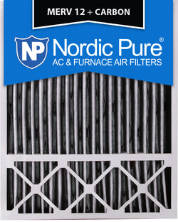 20x25x5 Lennox X6673_X6675 Replacement Air Filters MERV 12 Pleated Plus Carbon Qty 4 - Nordic Pure