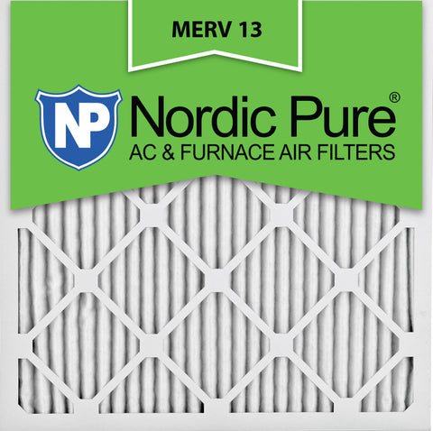 12x12x1 Pleated MERV 13 AC Furnace Filters Qty 12 - Nordic Pure