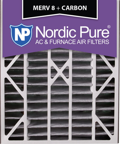 20x25x5 Air Bear Replacement MERV 8 Pleated Plus Carbon Qty 4 - Nordic Pure