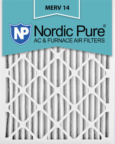 10x20x2 Pleated MERV 14 AC Furnace Filters Qty 12 - Nordic Pure