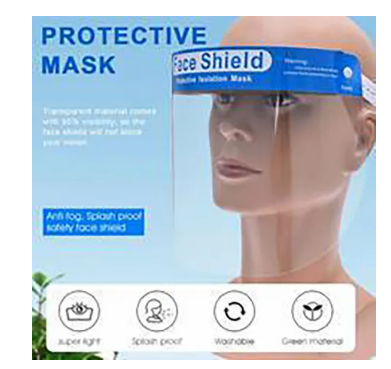 Antibacterial Face Shield - Sold by the case. CALL FOR PRICING