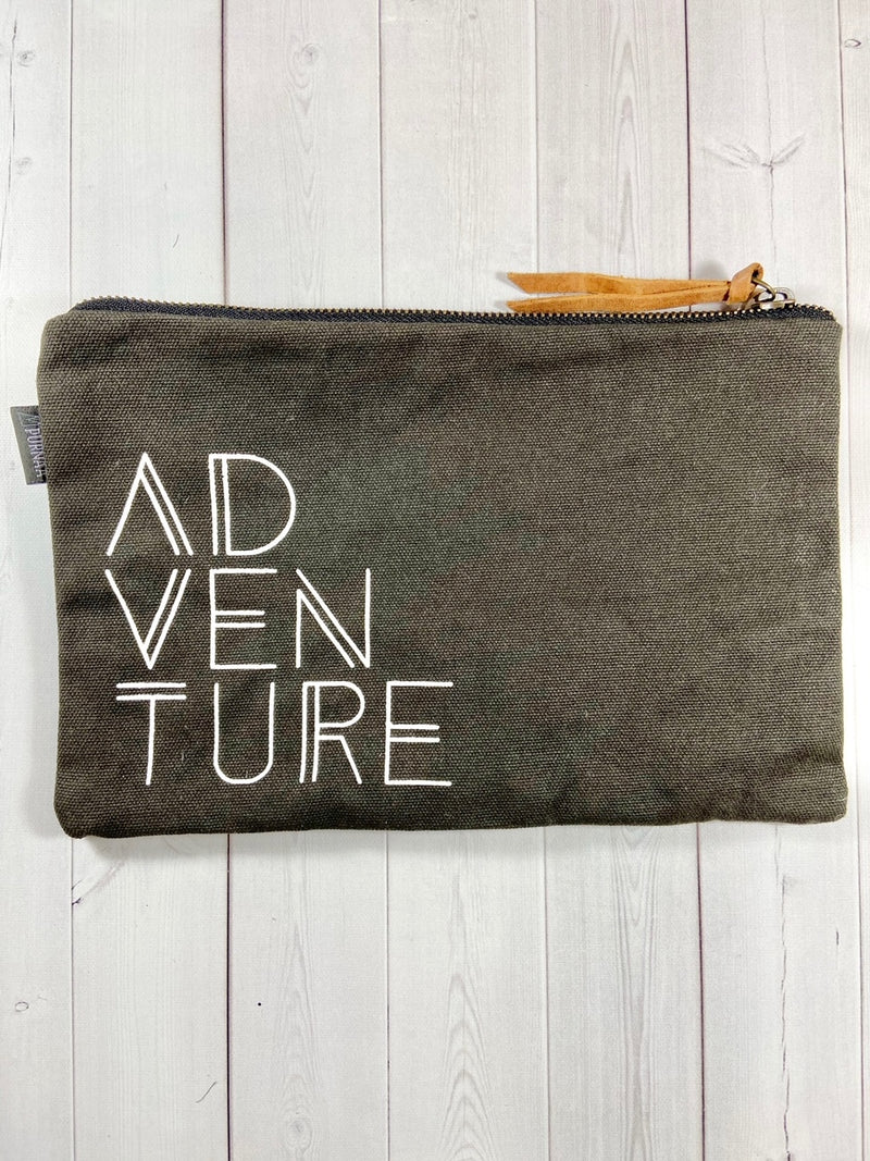 Waxed Canvas Adventure Pouch