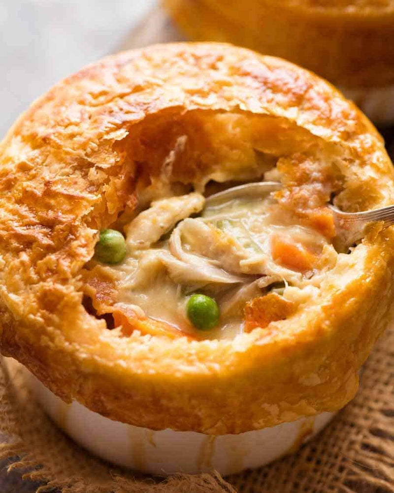 Gluten Free Chicken, Bacon & Mushroom Pie (individual pie)