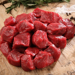Grass Fed, Grass Finished Diced Beef 500g