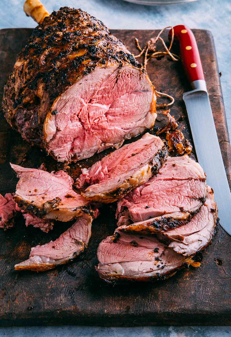 Grass Fed Lamb Leg Roast On Bone 2.5-3.5kg $22.49/kg