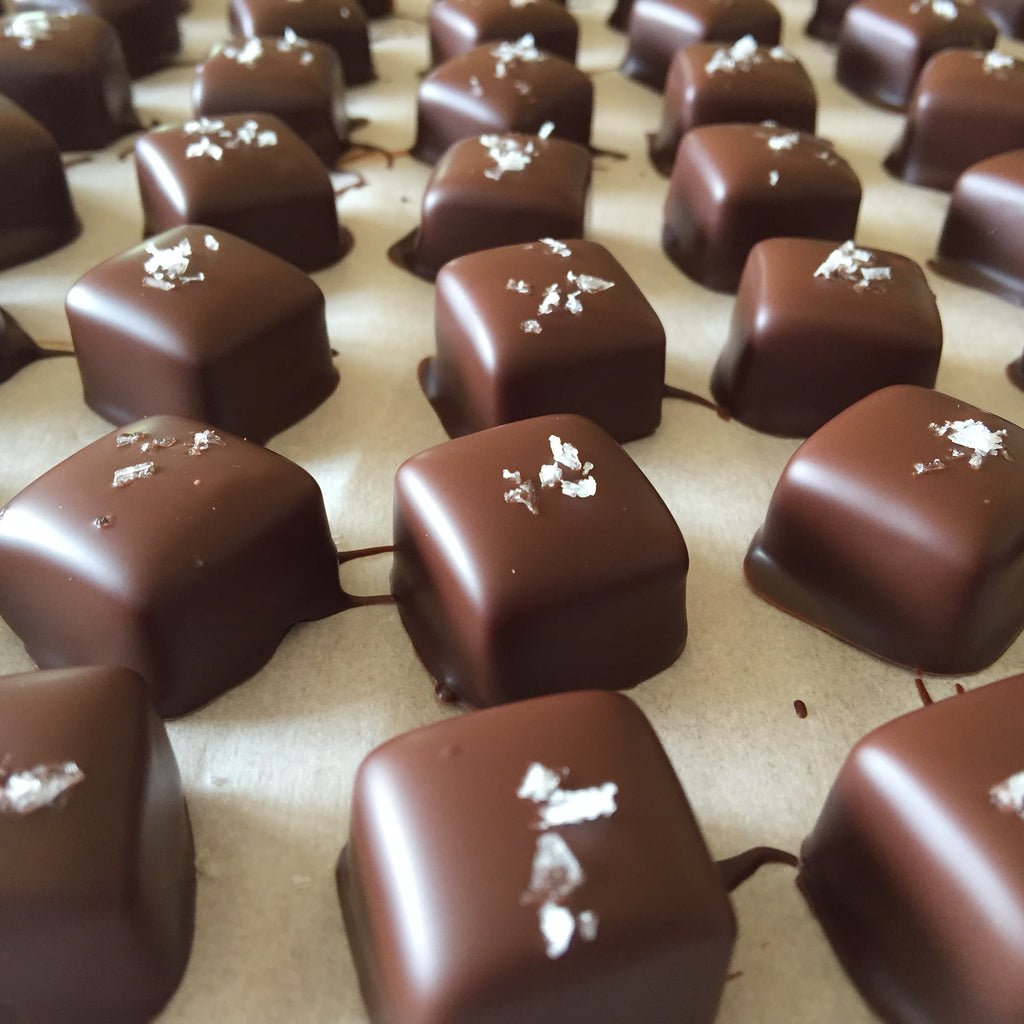 Chocolate Dipped Caramels