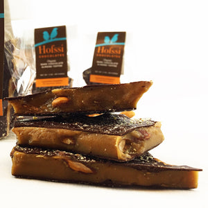 Organic Dark Chocolate Almond Toffee 3 oz. Cello Bag