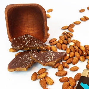 Organic Milk Chocolate Almond Toffee 8 oz. Kraft Bag