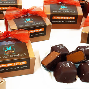 Dark Chocolate Dipped Sea Salt Caramel - 2.2 oz. Mini Gift Box