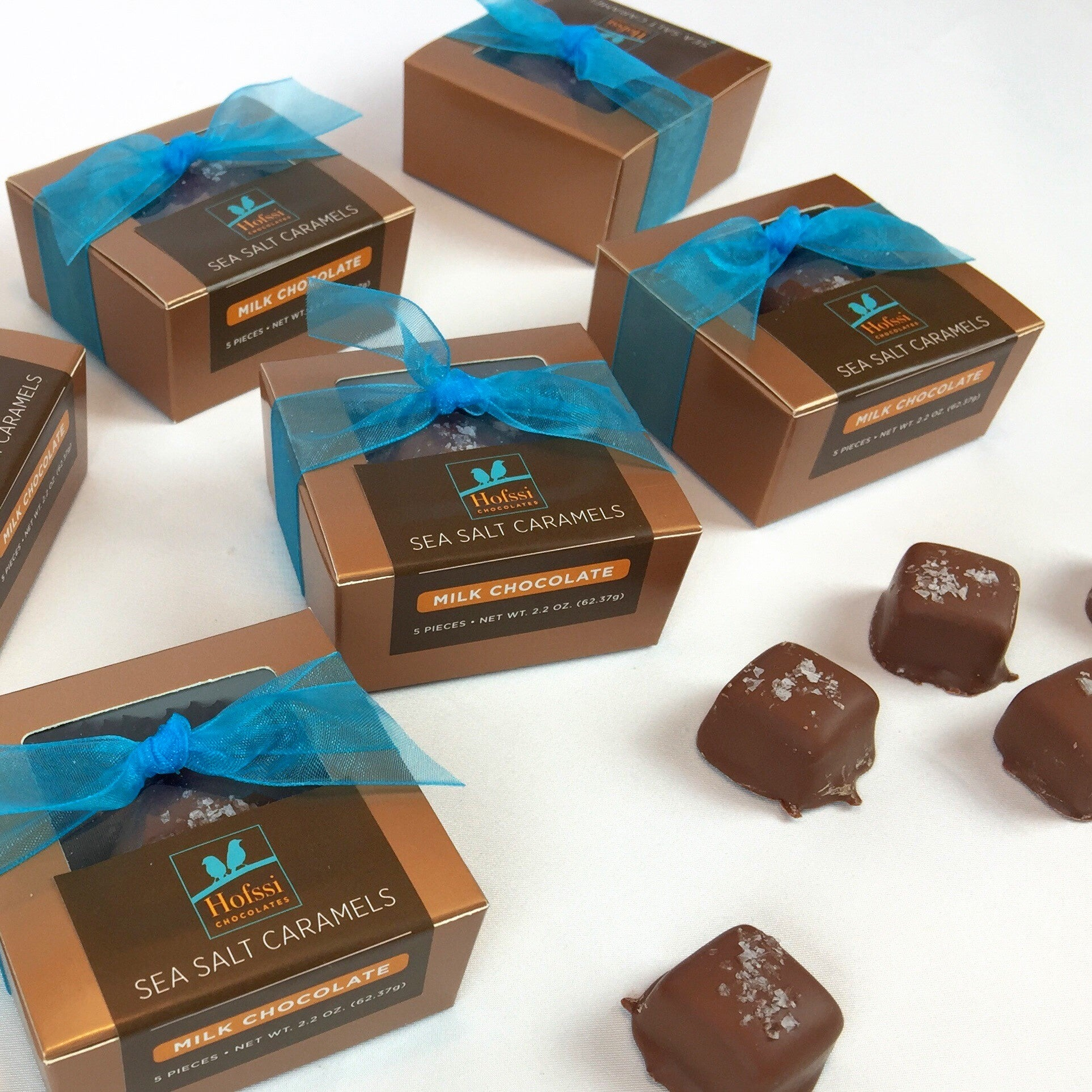 Milk Chocolate Dipped Sea Salt Caramels - 2.2 oz. Mini Gift Box