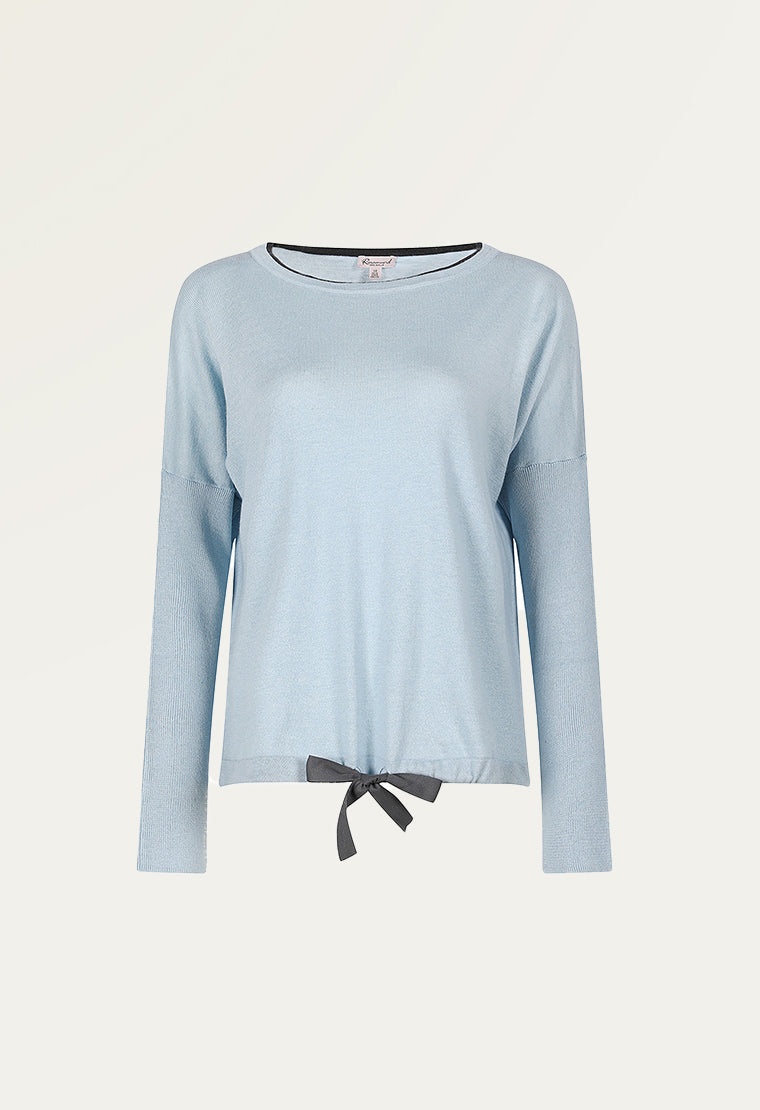 Cozy cotton-blend jersey blouse