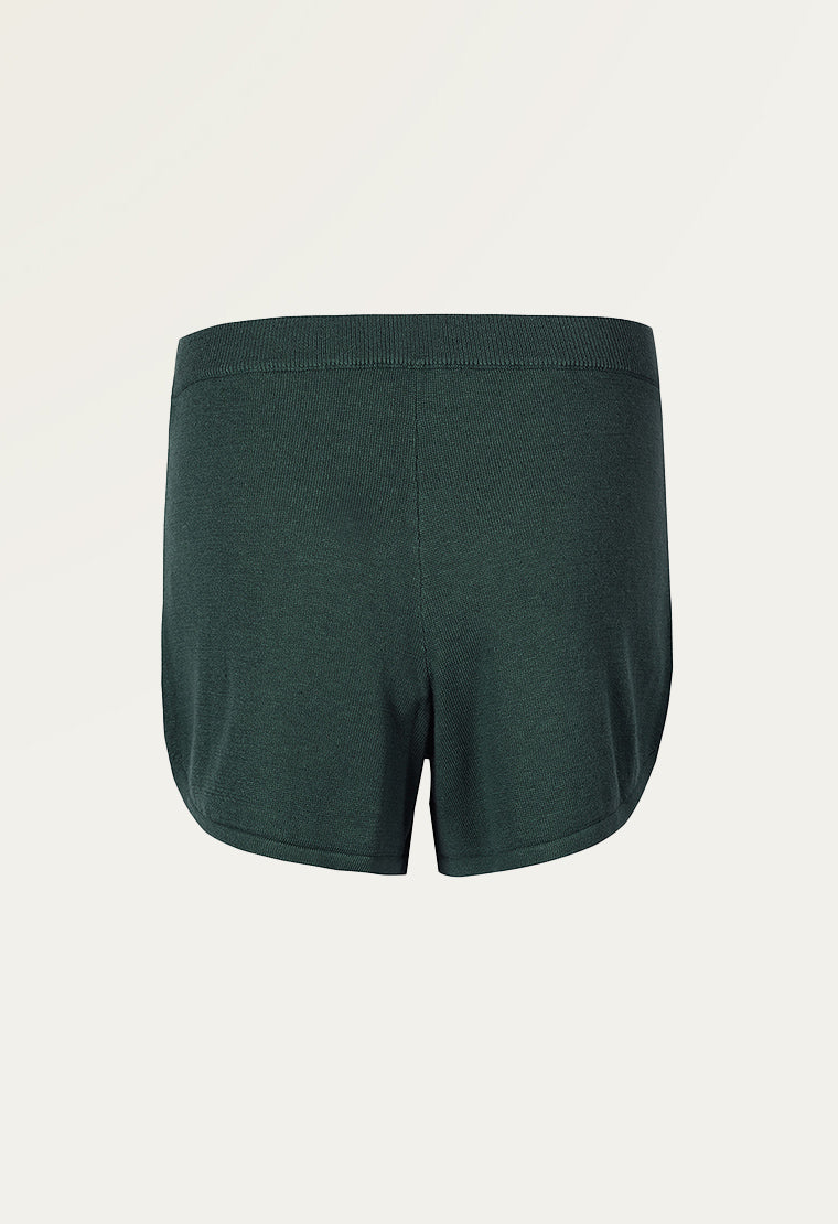 Cotton-blend jersey shorts