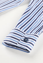 Relaxed striped cotton pajama set