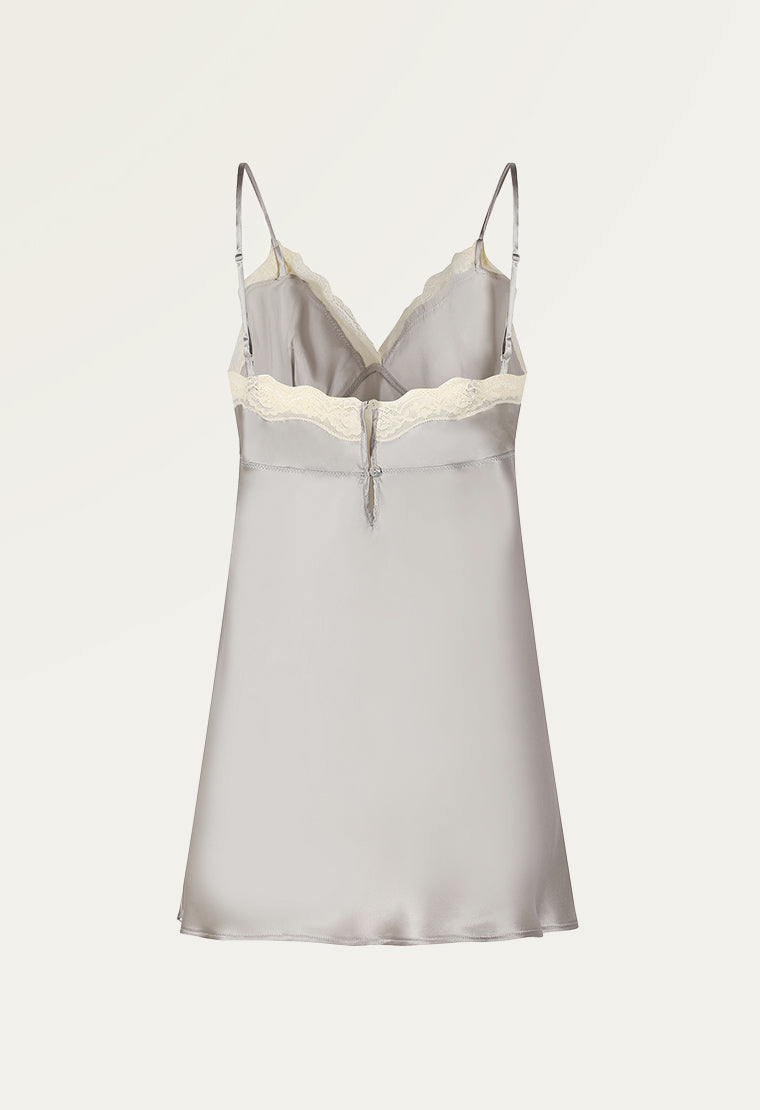 Silvery-silk chemise