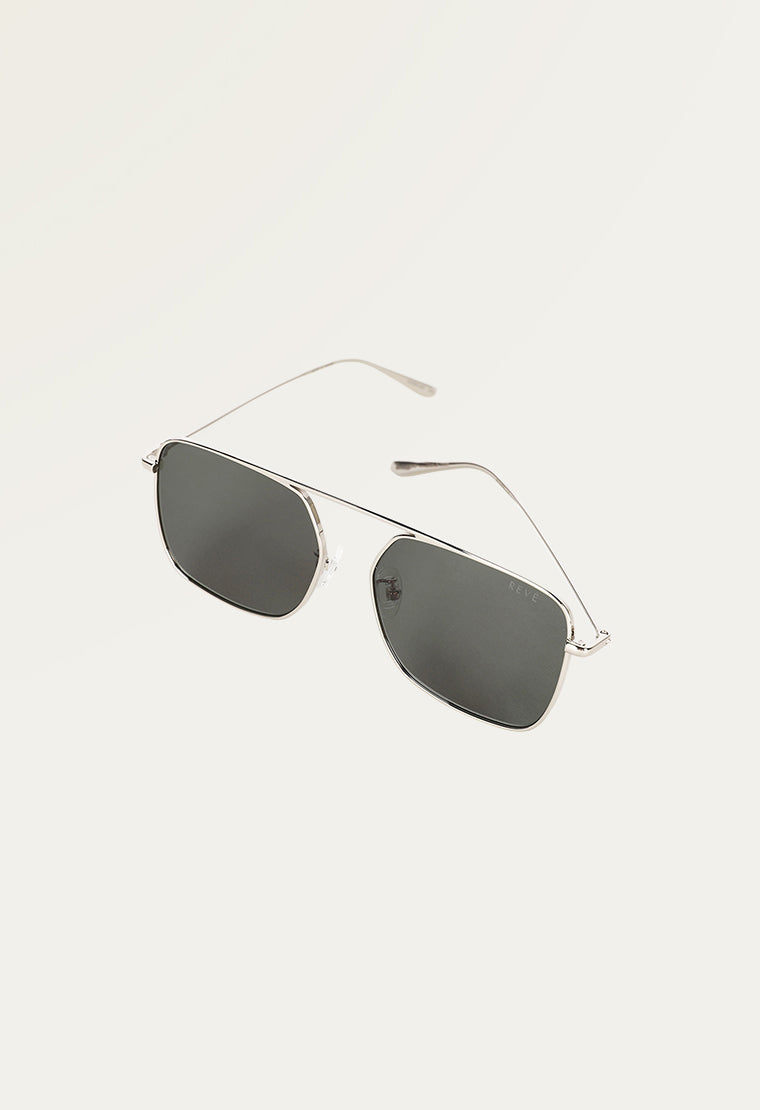 Square-frame sunglasses