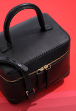 Trendy box leather handbag
