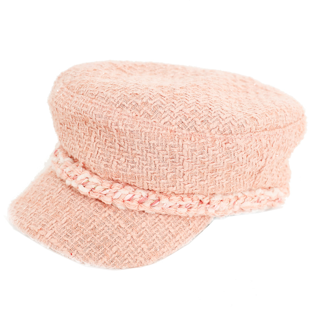 Romantic tweed baker boy hat