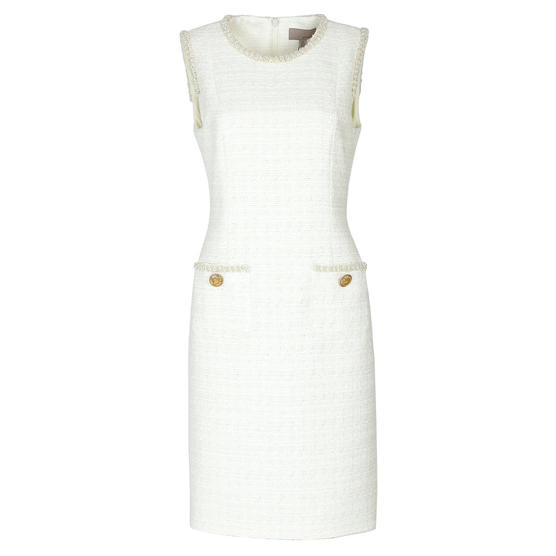 Classic white tweed dress