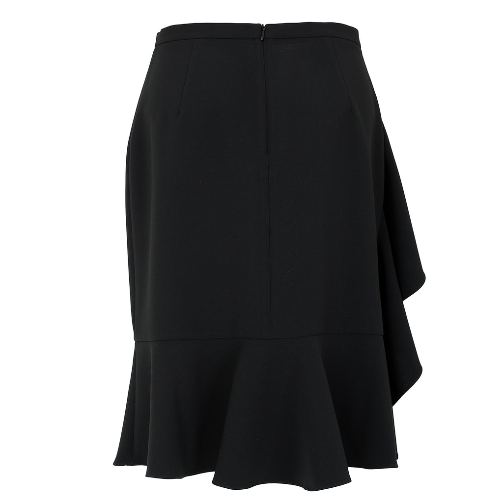 Ruffled-crepe skirt