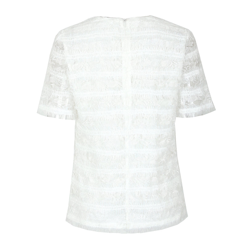 Pure white lace blouse
