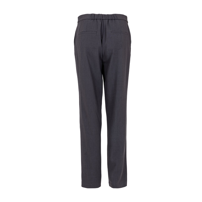 Wool-blend straight-leg pants