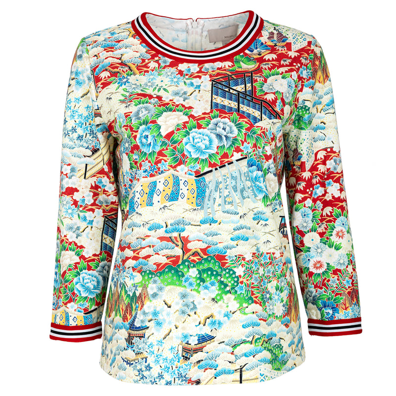 Japanese printed cotton T-shirt