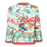 Japanese garden printed cotton jacket