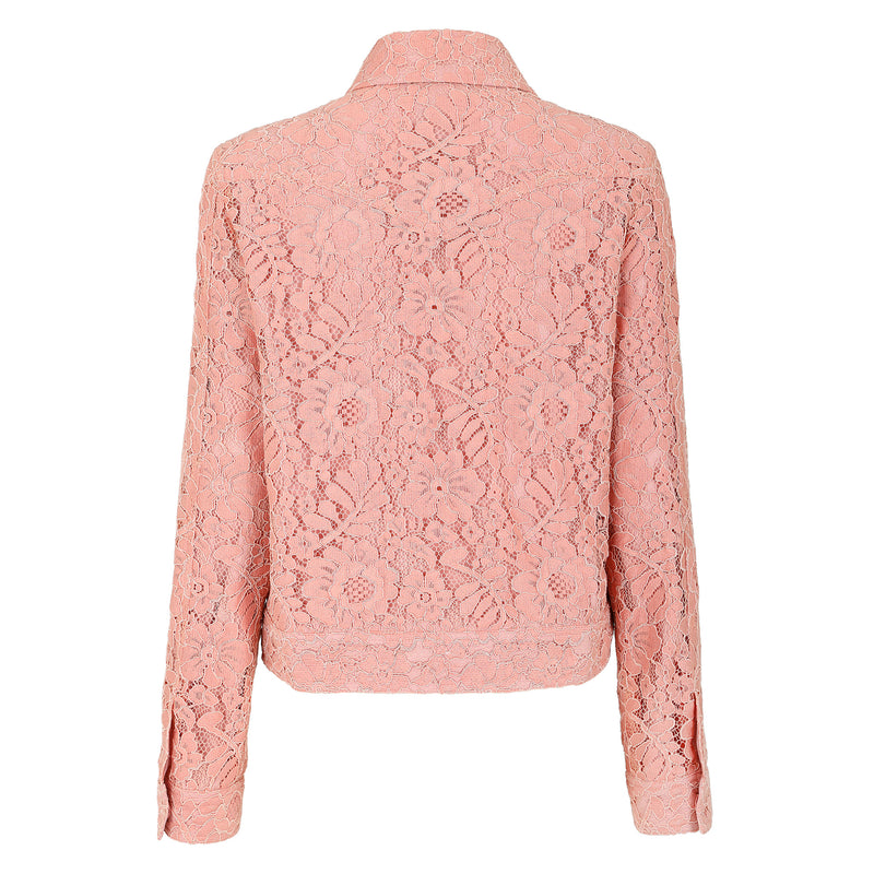 Butterfly-embroidered cozy lace jacket