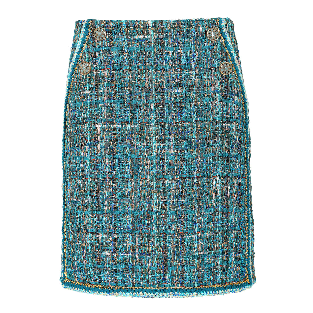 Classic blended tweed skirt
