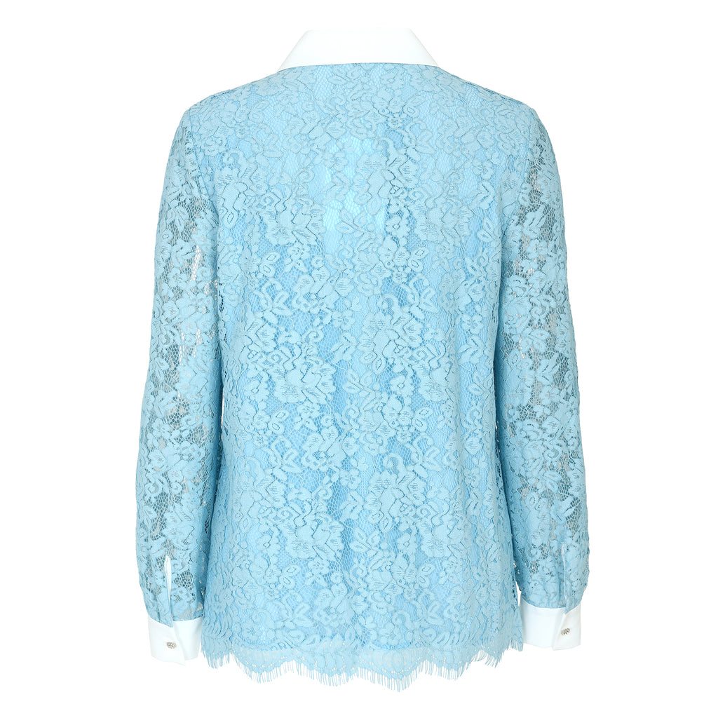 Romantic floral lace blouse
