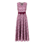 3-D embroidered evening lace dress