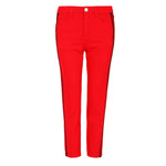 Relaxed slim-leg red jeans