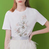 Crystal-embellished cotton T-Shirt