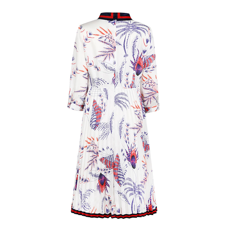 Printed lightweight chiffon dress