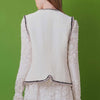 Retro style tweed sleeveless jacket