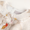 Bird-embroidered organza dress