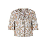 Retro jacquard cropped jacket