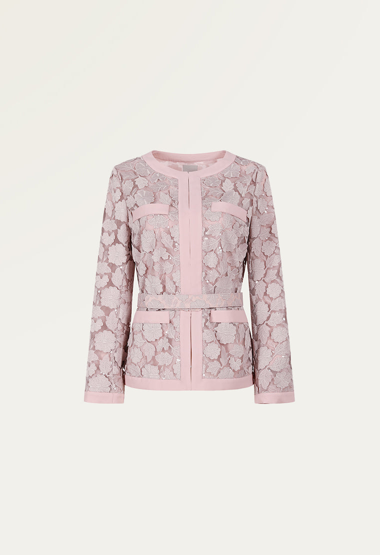 Exquisite floral laces jacket