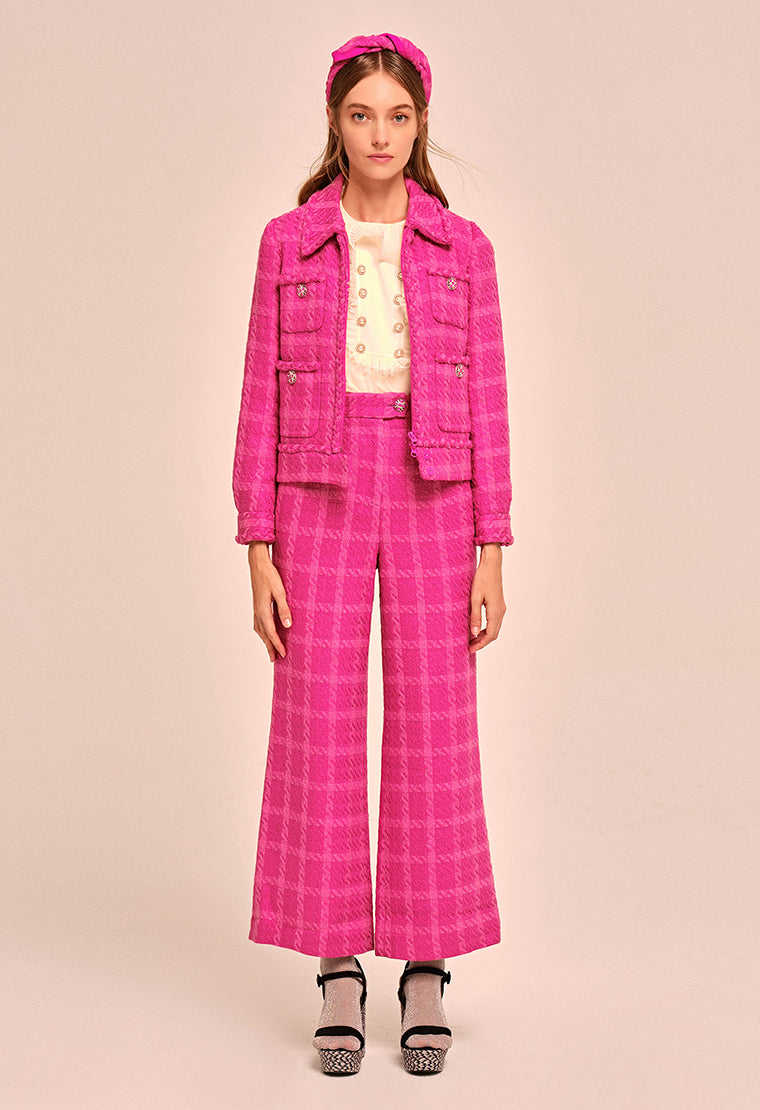 Fushia tweed jacket