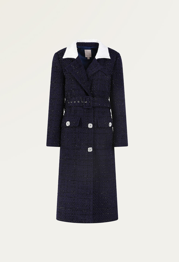 Stylish tweed coat