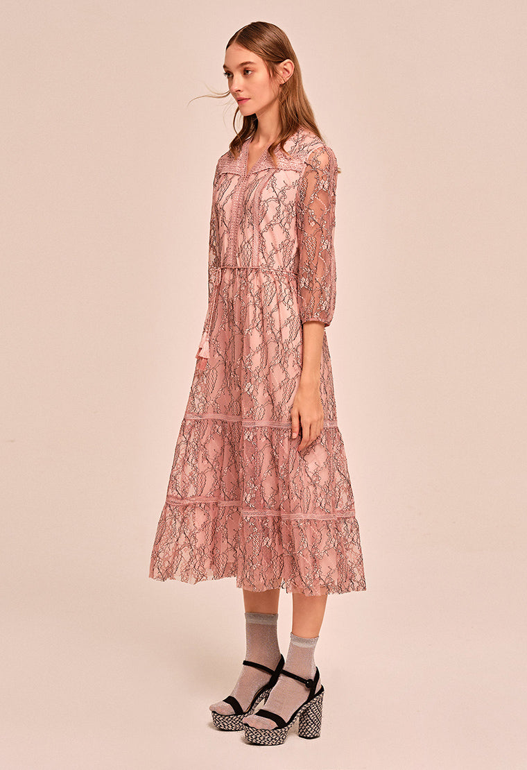 Dreamy flowing lace dress
