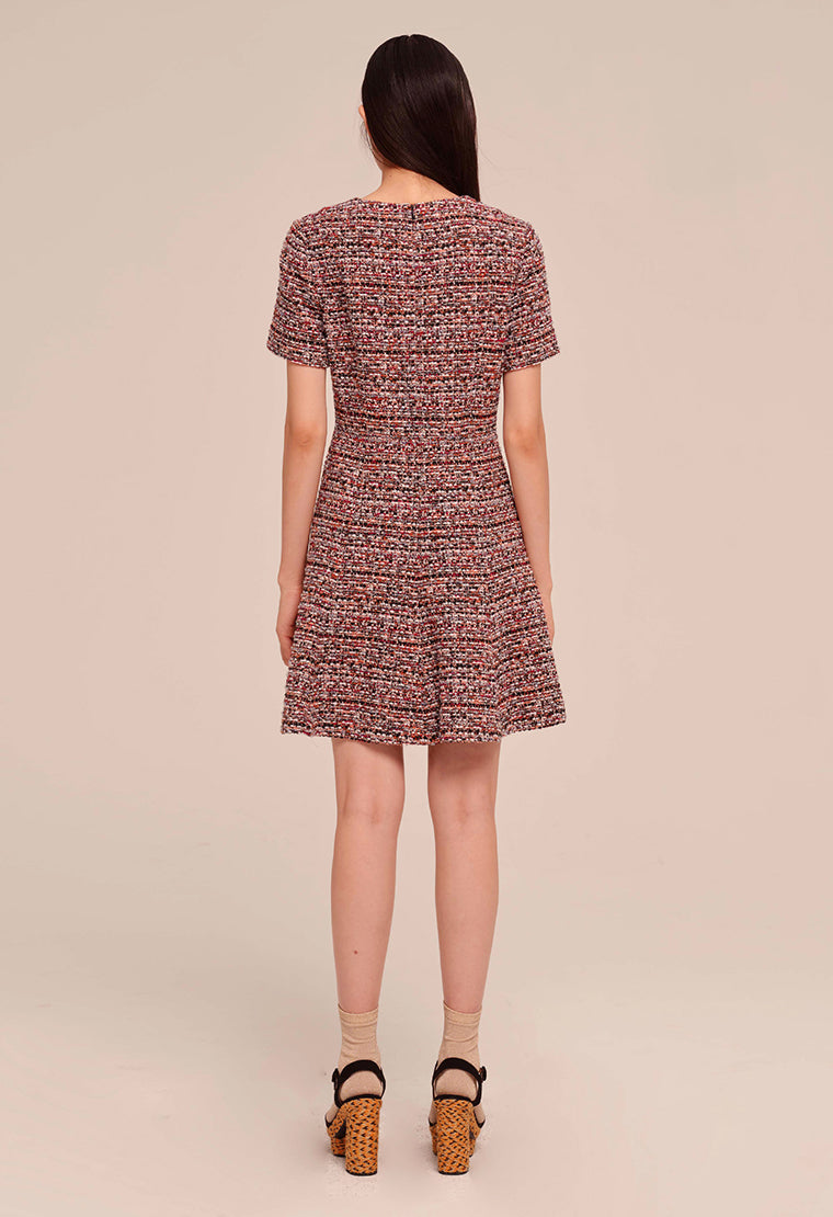 Structural tweed dress