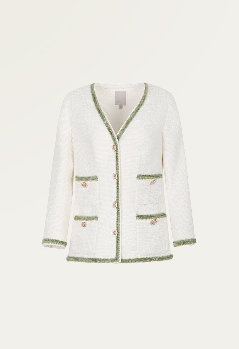Light cream tweed jacket