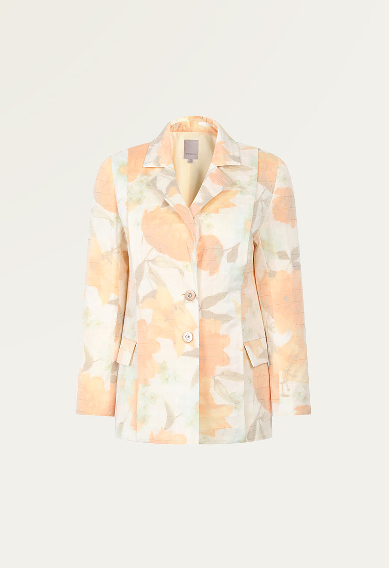 Light orange jacquard blazer