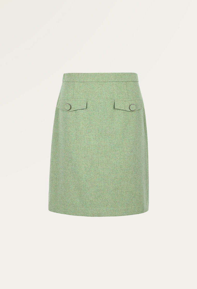 Light green skirt
