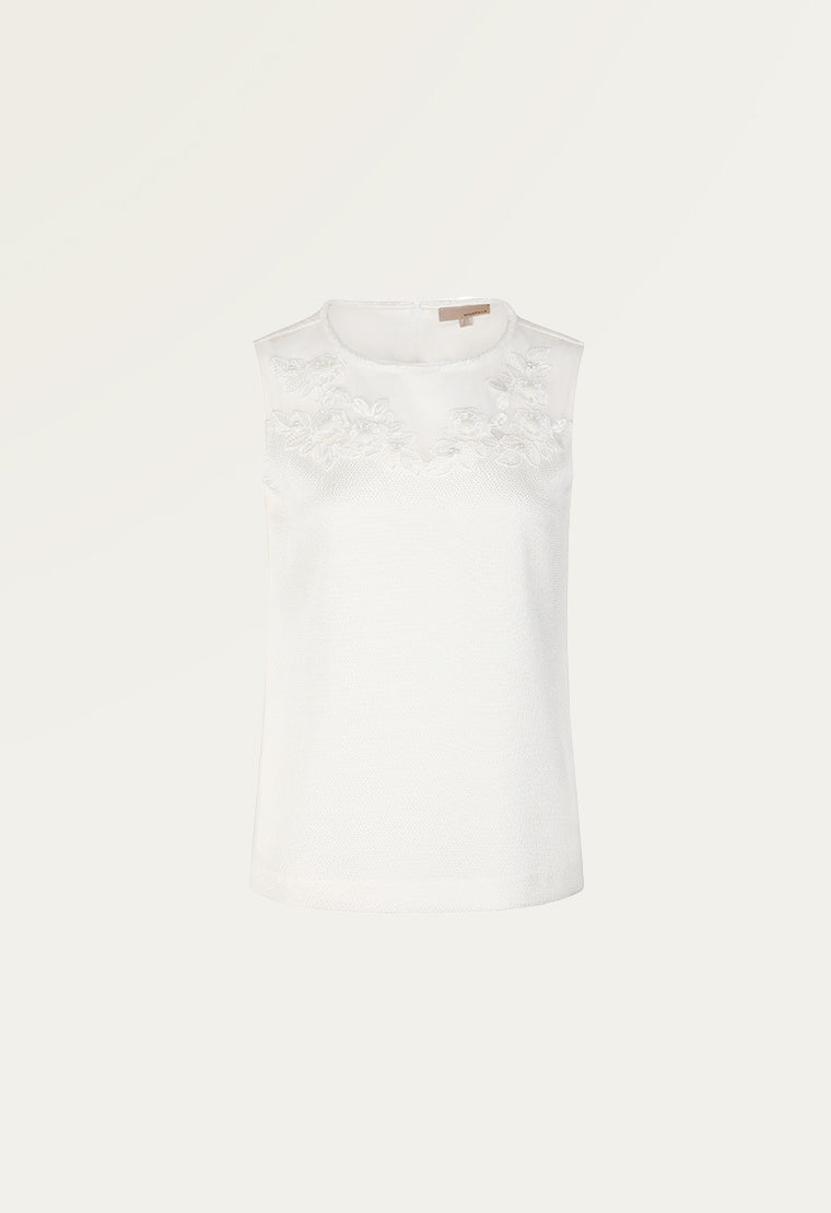 Light cream satin T-shirt