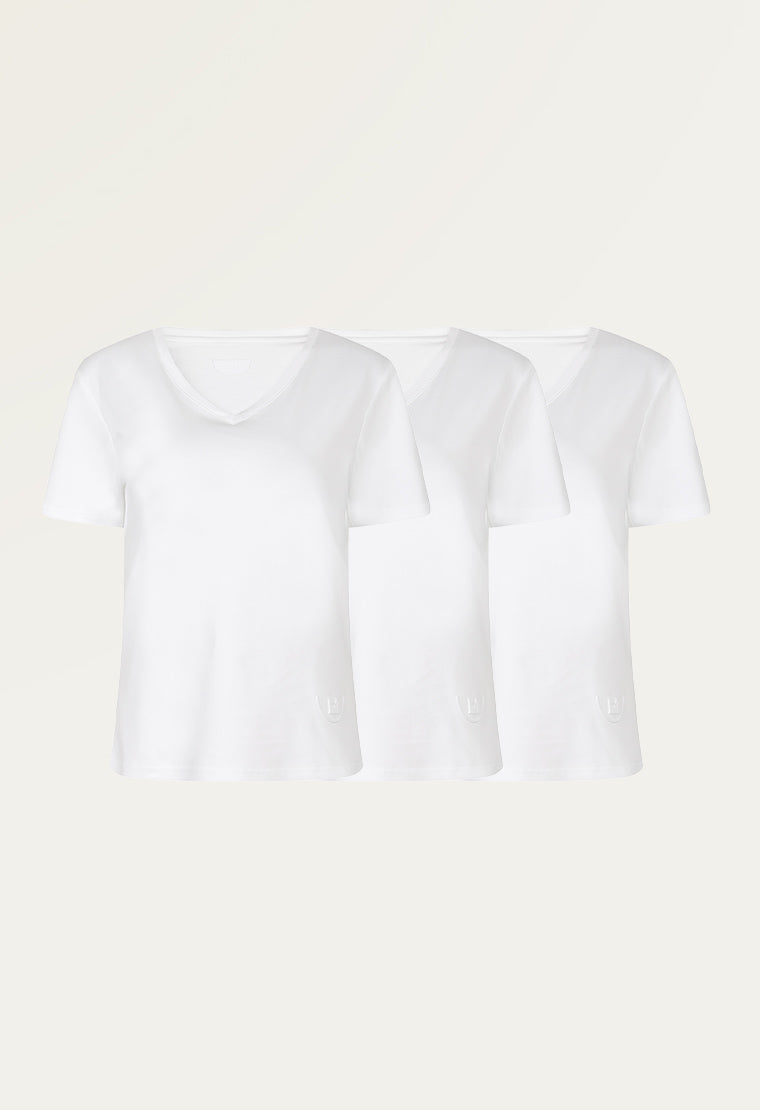 Antibacterial basic V-neck T-shirt (3 in 1 pack)