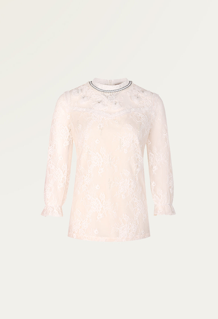 Light cream lace blouse